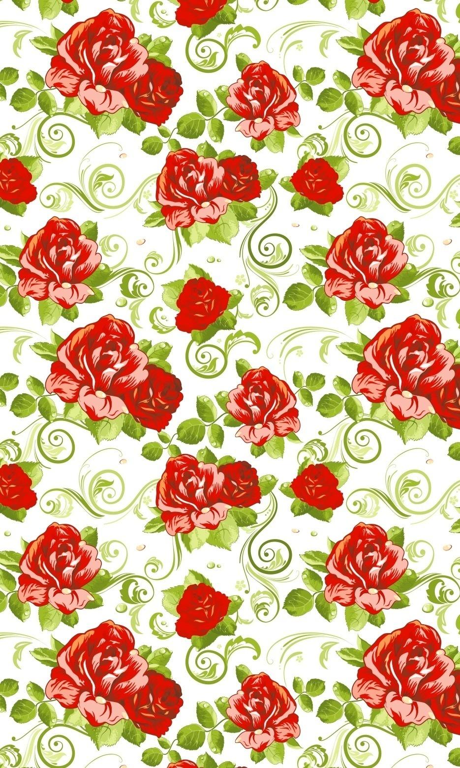 Papel De Parede Autocolante Com Rosa Vermelha E Folhas Fl1041